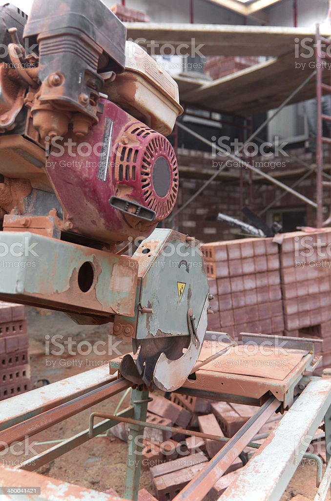 Bricklaying Construction Site stock photo