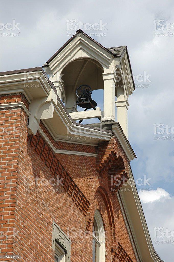 Bricks and Bell stock photo