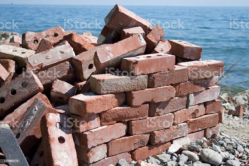 bricks and water royalty-free stock photo