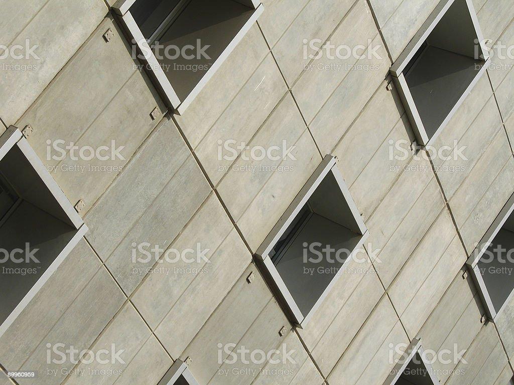 Bricks, Columns and windows royalty-free stock photo