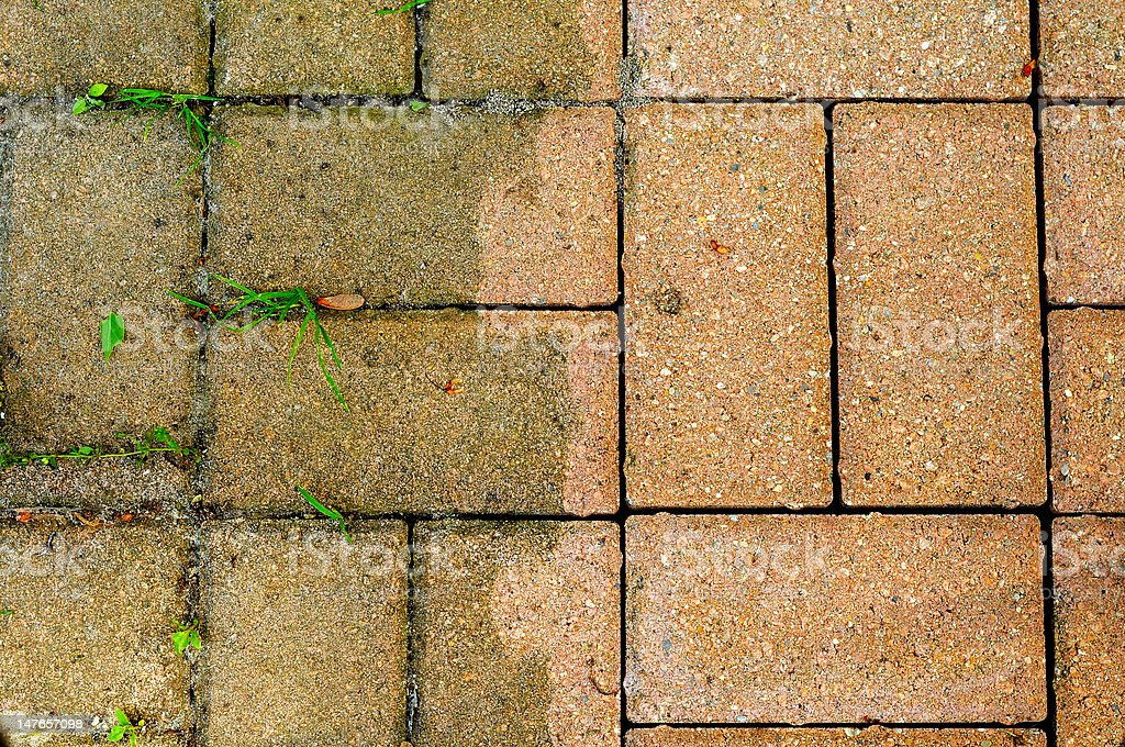 Bricks Dirty and Clean royalty-free stock photo