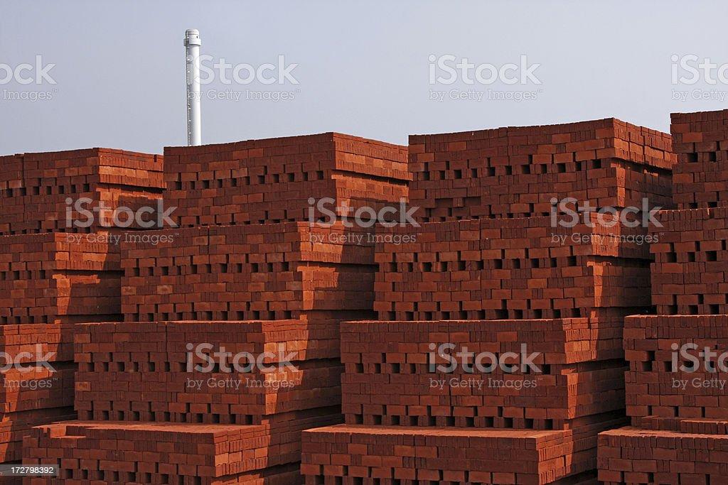 Bricks factory XL stock photo