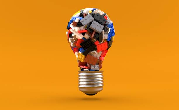 Bricks in light bulb shape - foto stock
