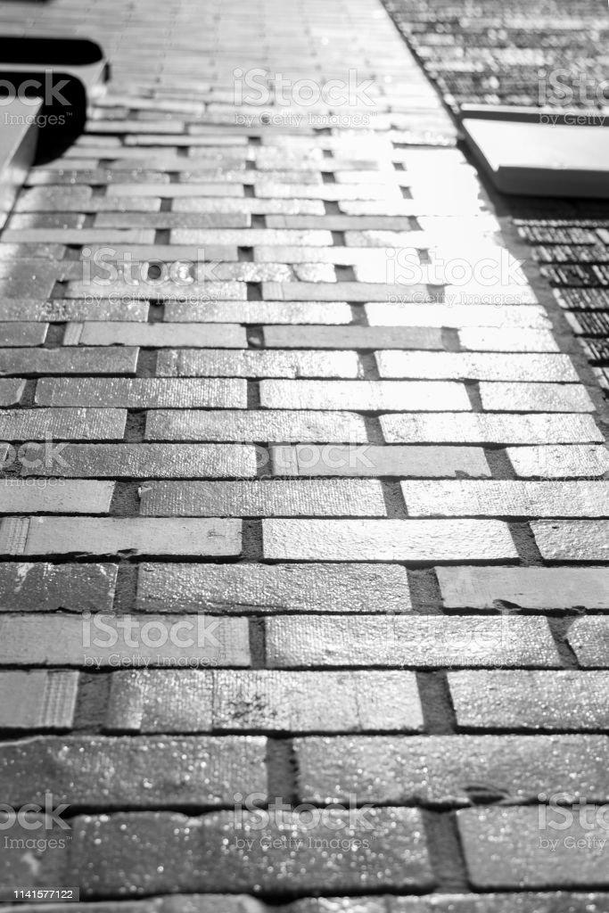 Bricks on a wall stock photo