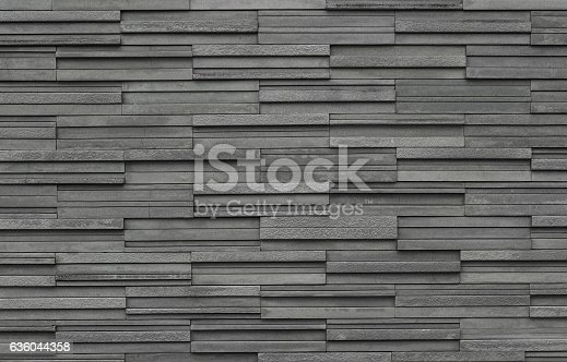 istock Bricks slate texture background, slate stone wall texture 636044358
