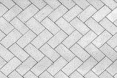 Bricks tiled floor with zigzag pattern texture background