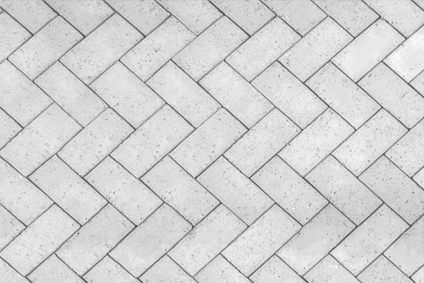 磚瓷磚地板與鋸齒形圖案紋理背景 - 大廈樓層 個照片及圖片檔