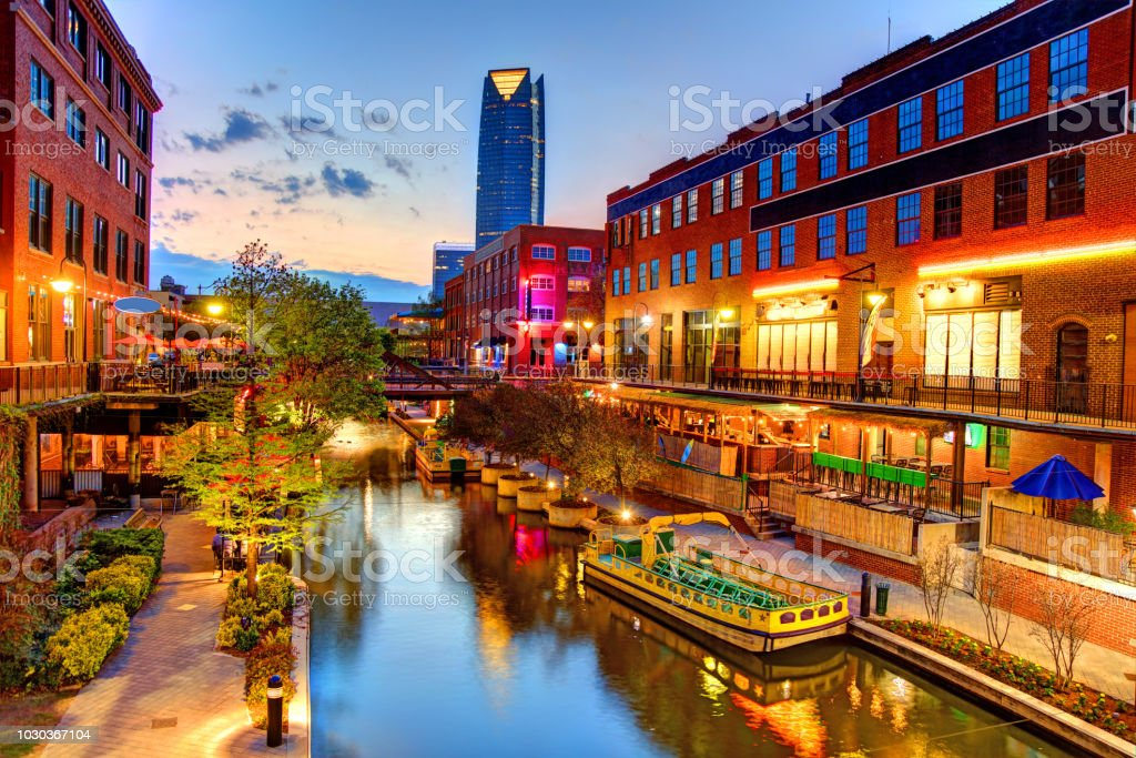Bricktown, Oklahoma City royalty-free stock photo