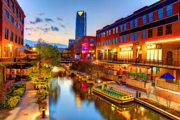Bricktown, Oklahoma City stock photo