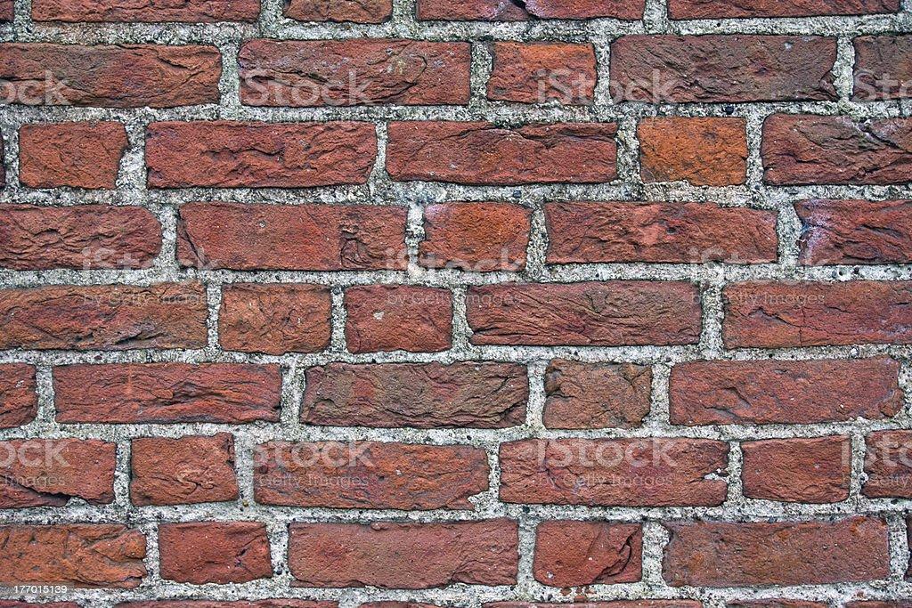 Brickwall of an old church stock photo