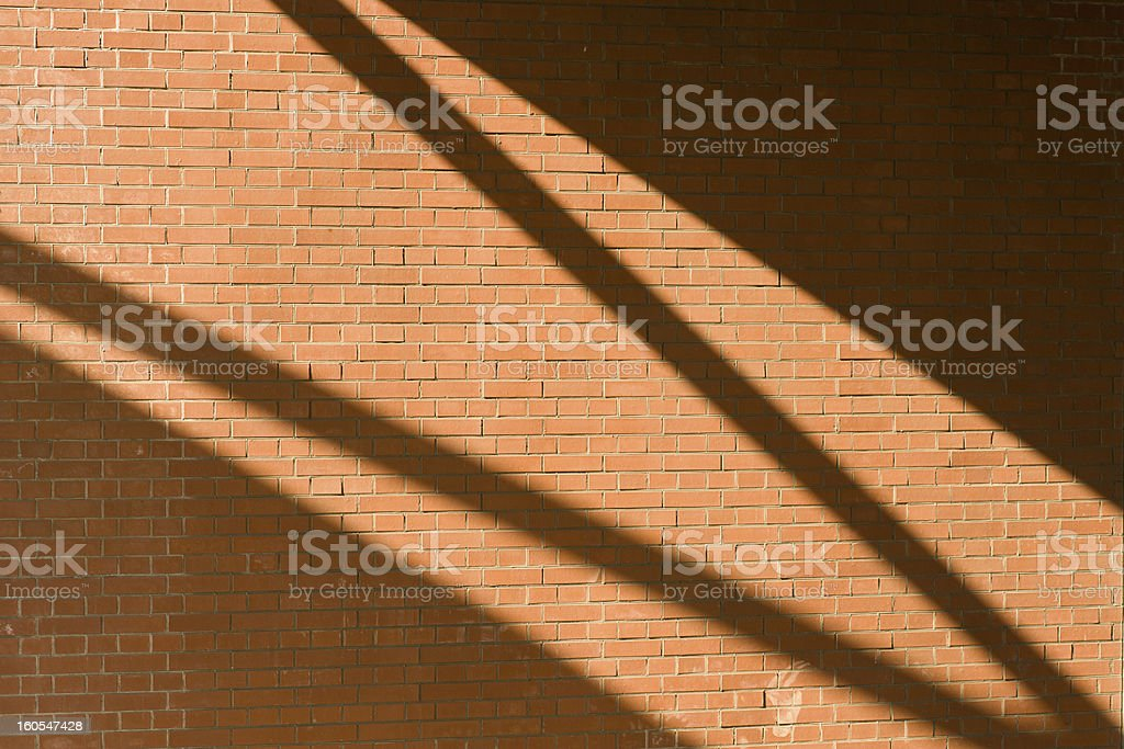 Brickwall with light pattern royalty-free stock photo