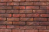 Brickwork. Background of red textured bricks.
