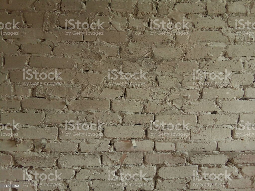 brickwork from old white silicate brick. texture stock photo