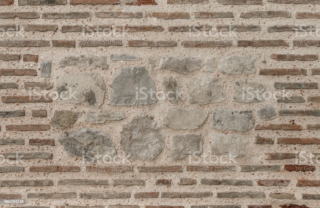 Brickwork in the old wall. royalty-free stock photo