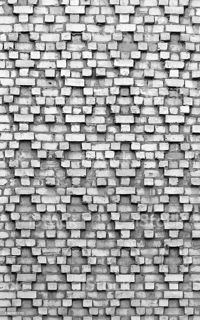 Brickwork pattern. Old black and white wall as background royaltyfri bildbanksbilder