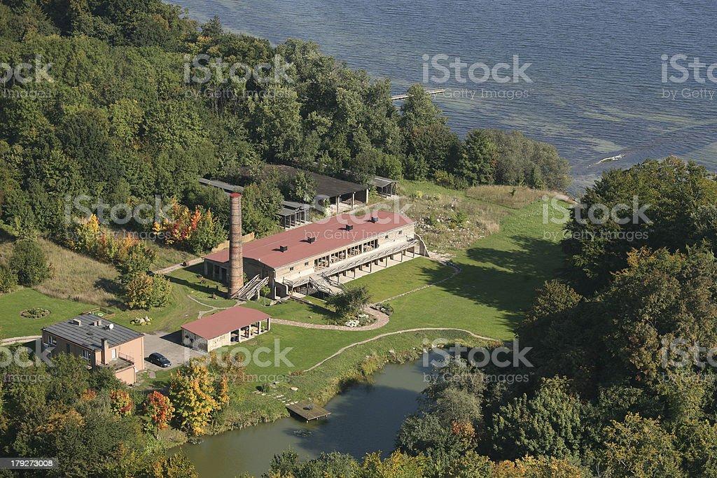 Brickyard - aerial view royalty-free stock photo