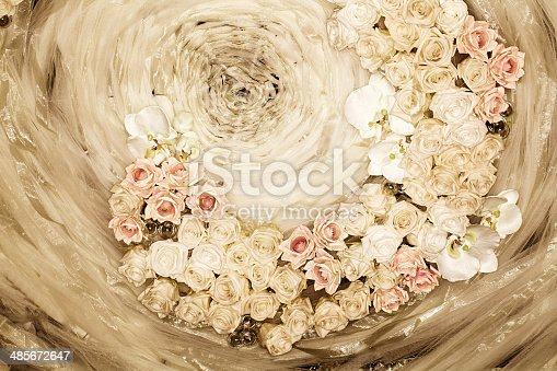 Roses, tulle and lace make a beautiful bridal background.  RM