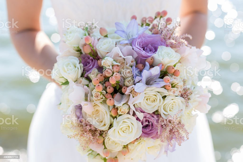 bridal bouquet stock photo
