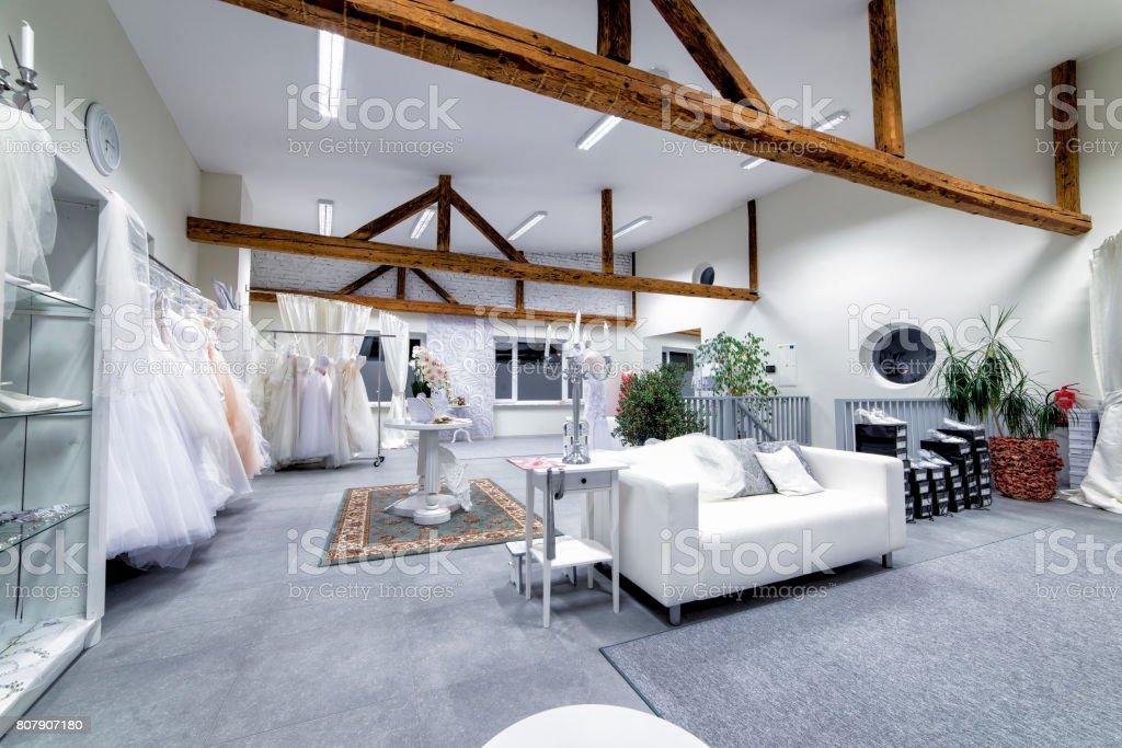 Bridal boutique stock photo