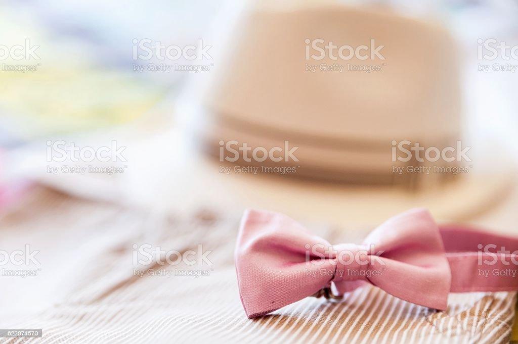 Bridal child clothing set stock photo