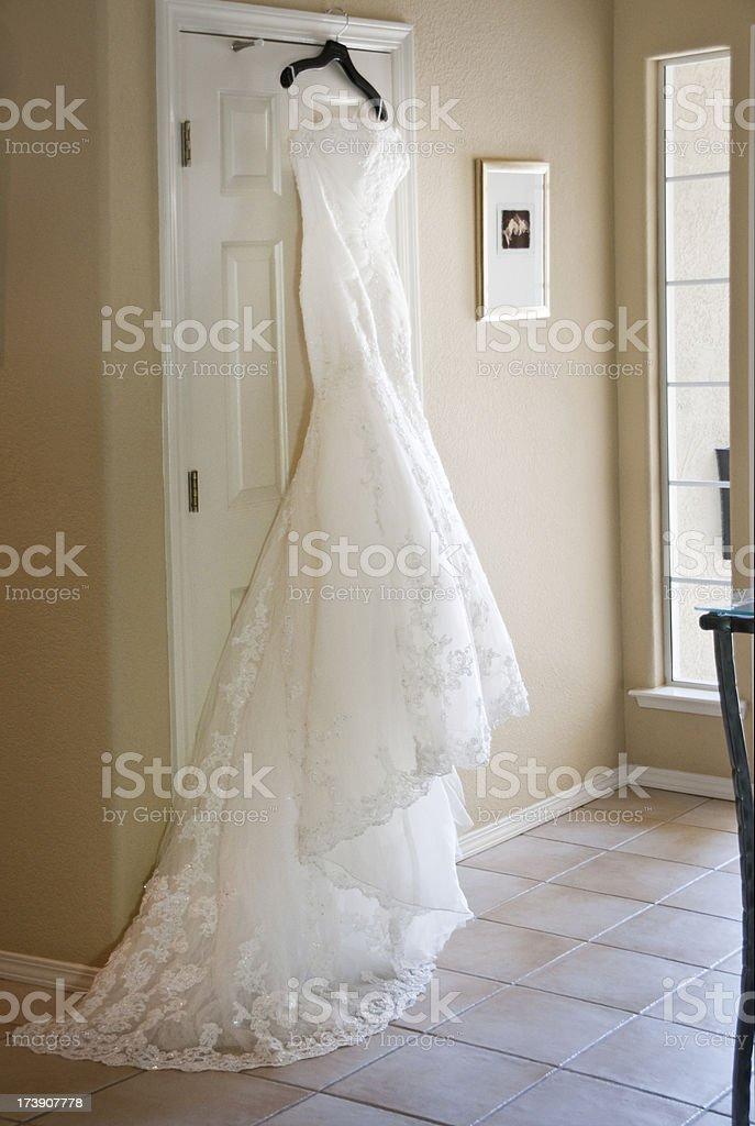 Bridal dress royalty-free stock photo