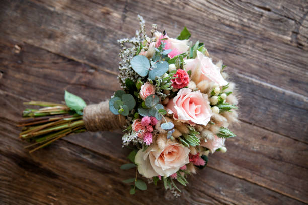 bridal flower - bouquet stock photos and pictures