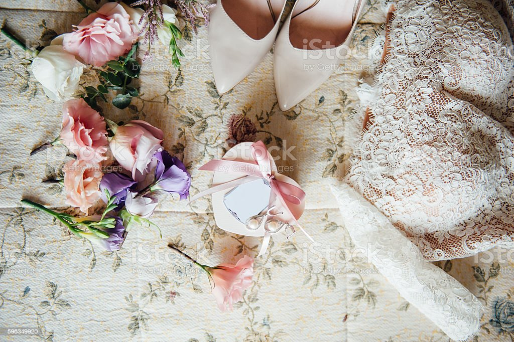 bridal garter with other details royalty-free stock photo