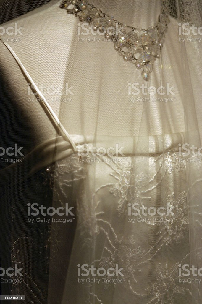 Bridal gown royalty-free stock photo