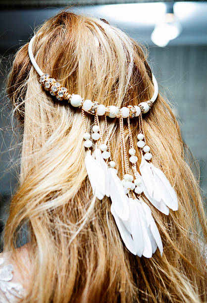 bridal hair accessory - diadem stock pictures, royalty-free photos & images