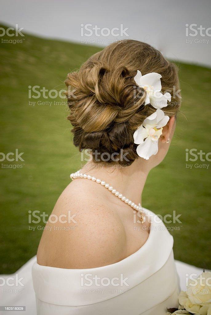 Bridal Hair royalty-free stock photo
