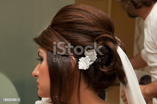 Bridal Hairstyling at salon.
