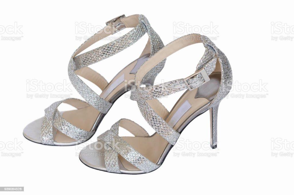 Luxusmarke Sandalen Stockfoto Funkelnde Hochzeitsschuhe Brautpumps XiuPkOZ
