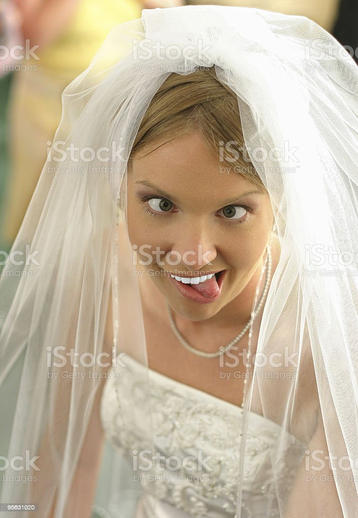 Bridal insanity royalty-free stock photo