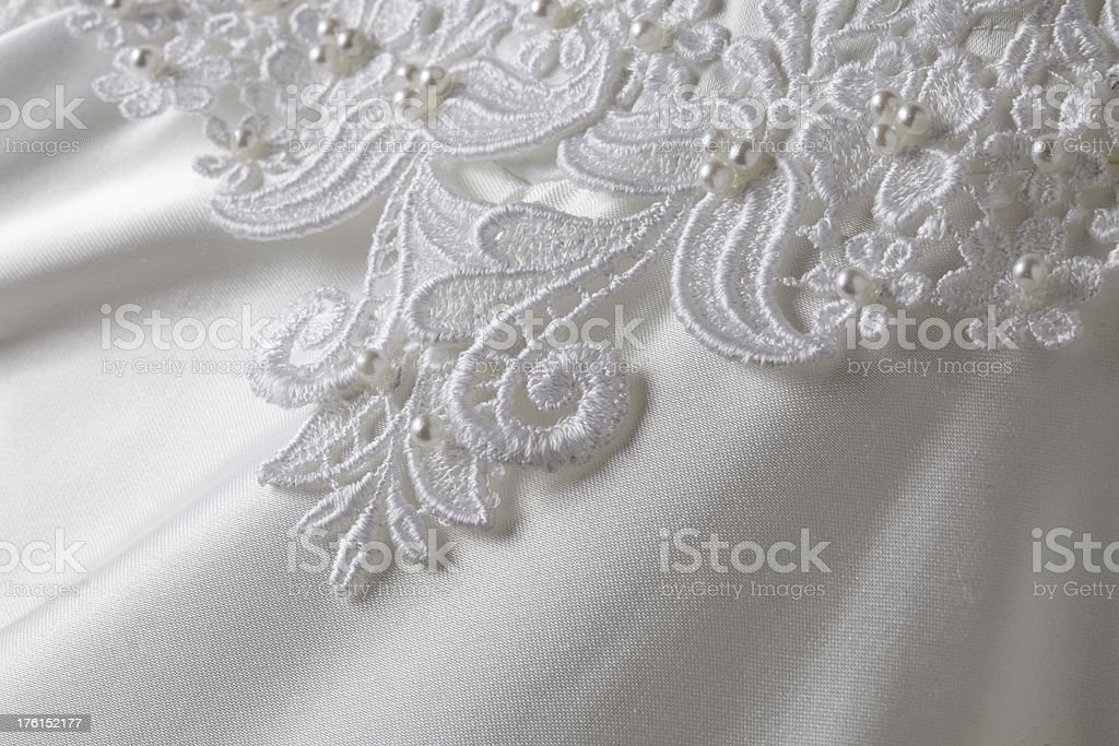 Bridal lace applique royalty-free stock photo