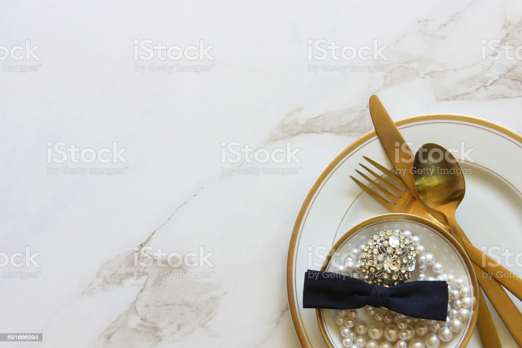 Bridal meal stock photo