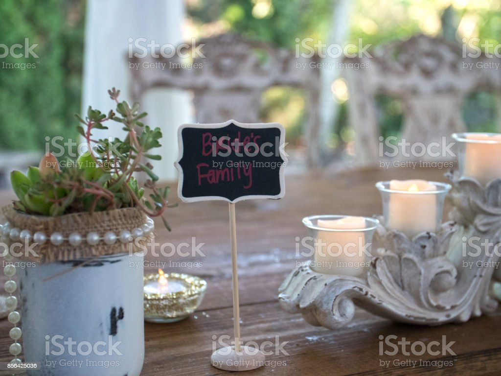Bridal Party Family Wedding Table Settings
