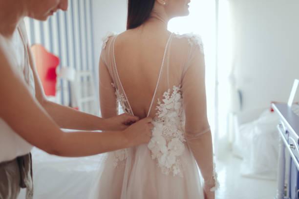 Bridal preparation stock photo