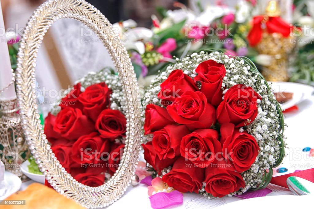 Valentines day concept. A bouquet of flowers bouquet of a red roses....
