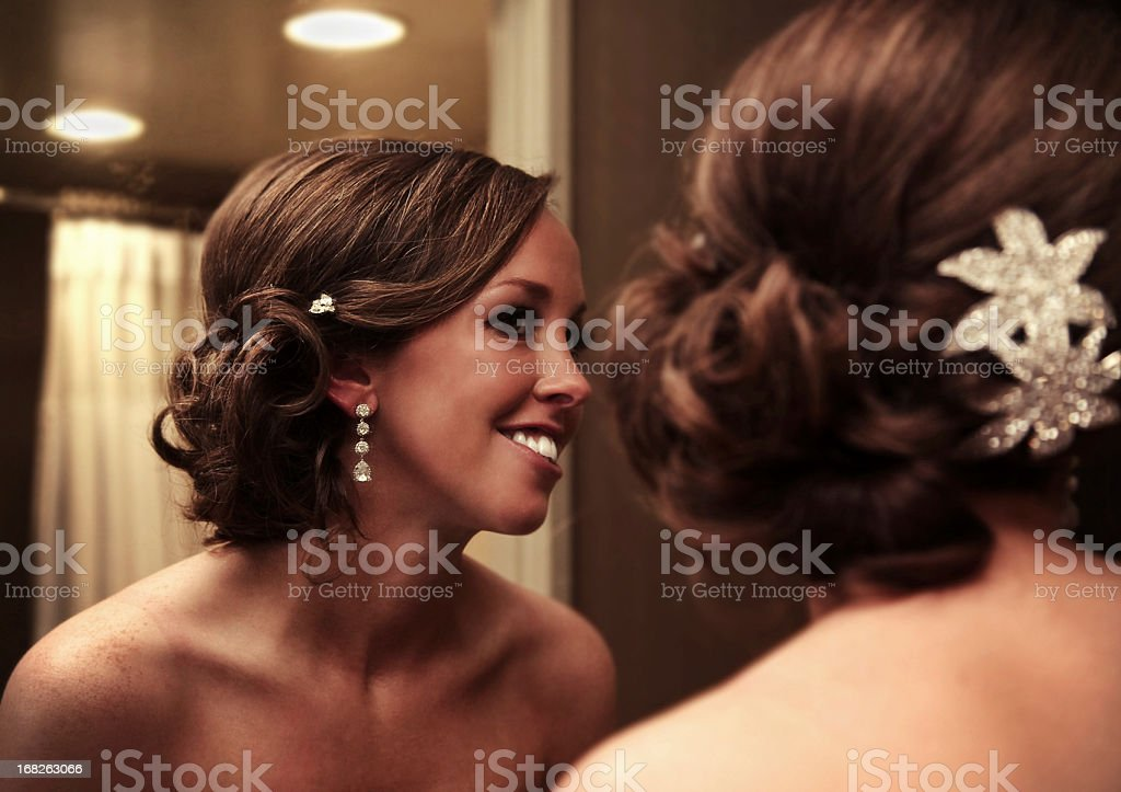 Bridal reflections royalty-free stock photo
