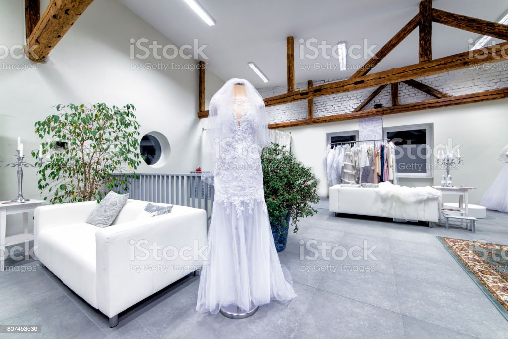 Bridal salon stock photo