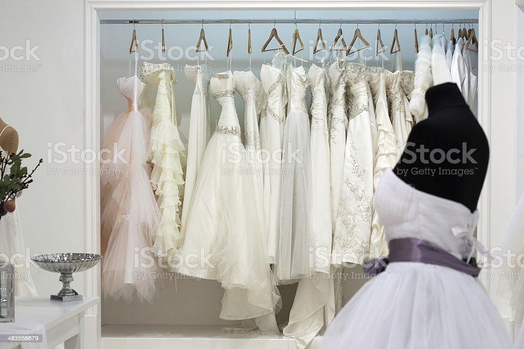 Bridal shop stock photo