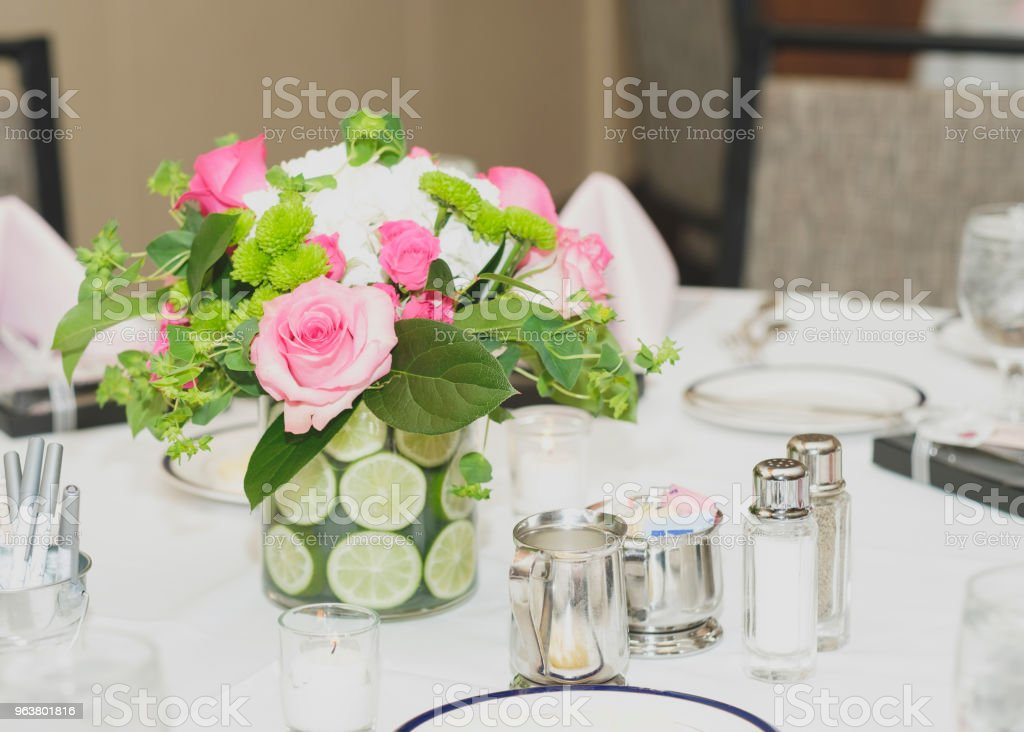 Bridal Shower Table Setting stock photo