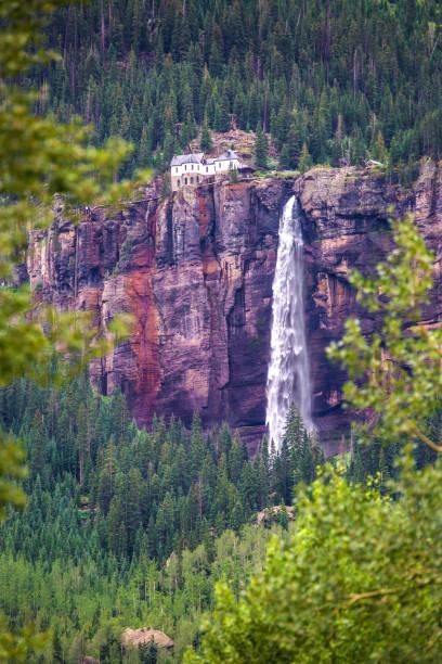 Bridal Veil Falls in Telluride stock photo