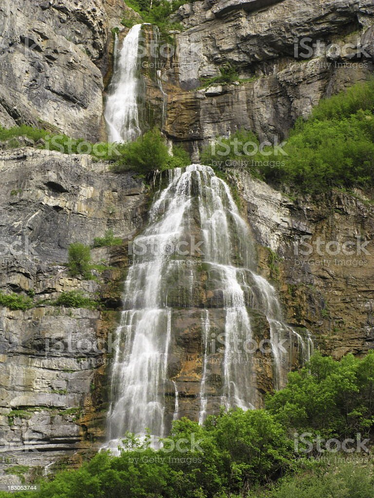 Bridal Veil Falls Provo Utah stock photo