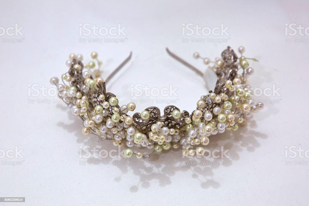 Bridal Wedding Decorations Soft White Bride Background Crown And