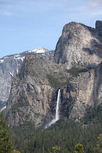 Bridalveil Fall in Yosemite National Park stock photo