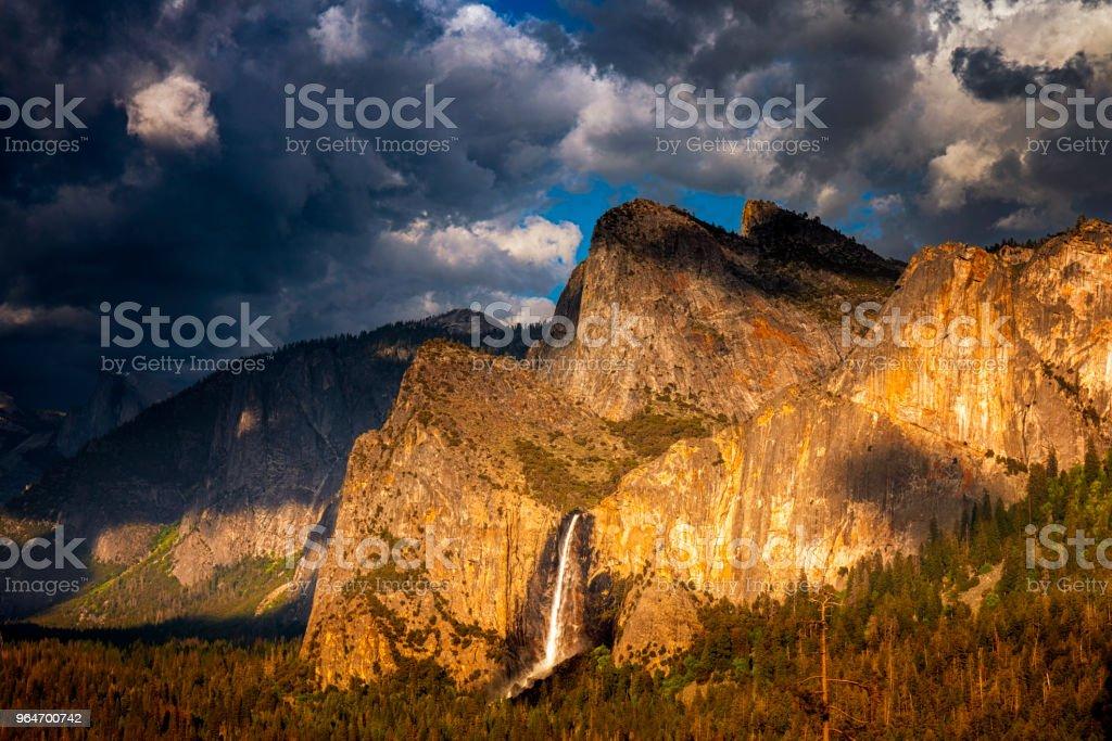 Bridalveil Falls in Yosemite royalty-free stock photo