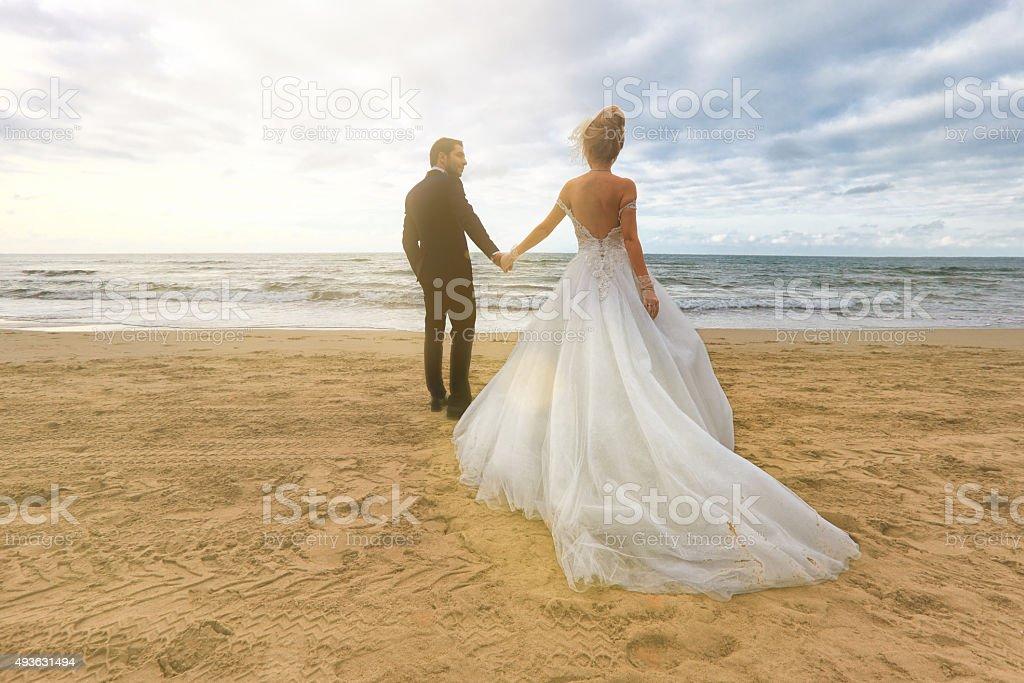 Bride & Groom stock photo