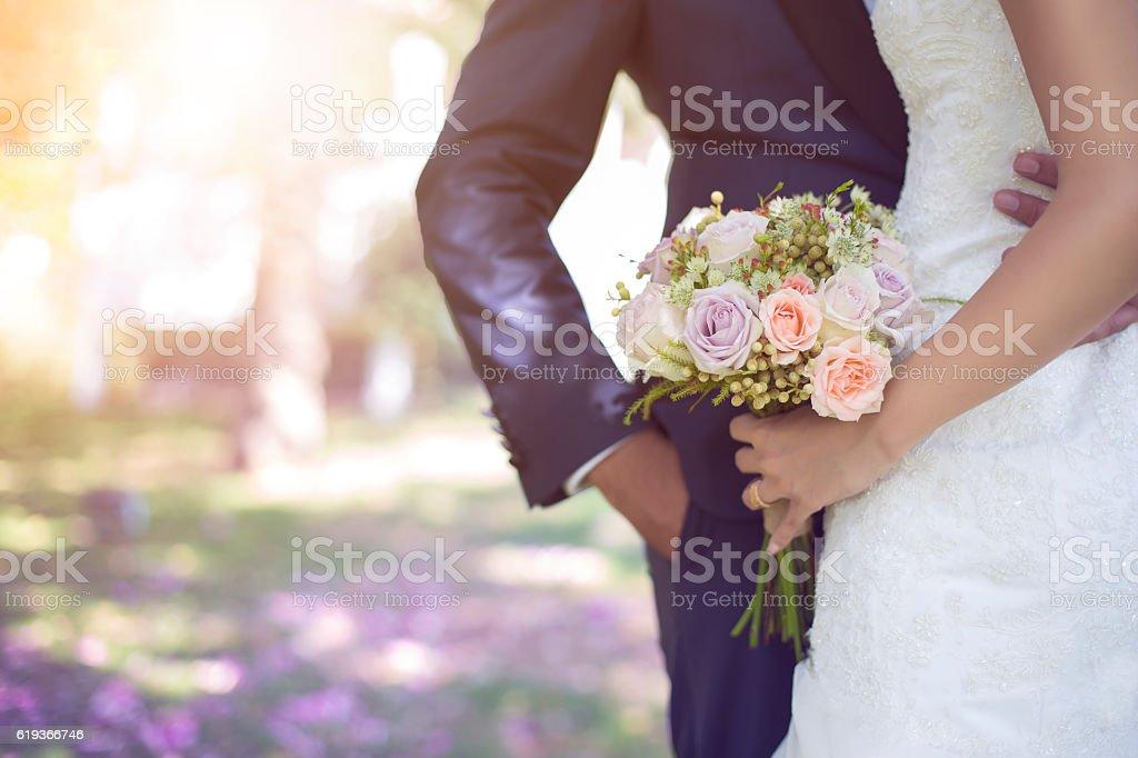 bride and bouquet Stock İmage - Zbiór zdjęć royalty-free (Bukiet)