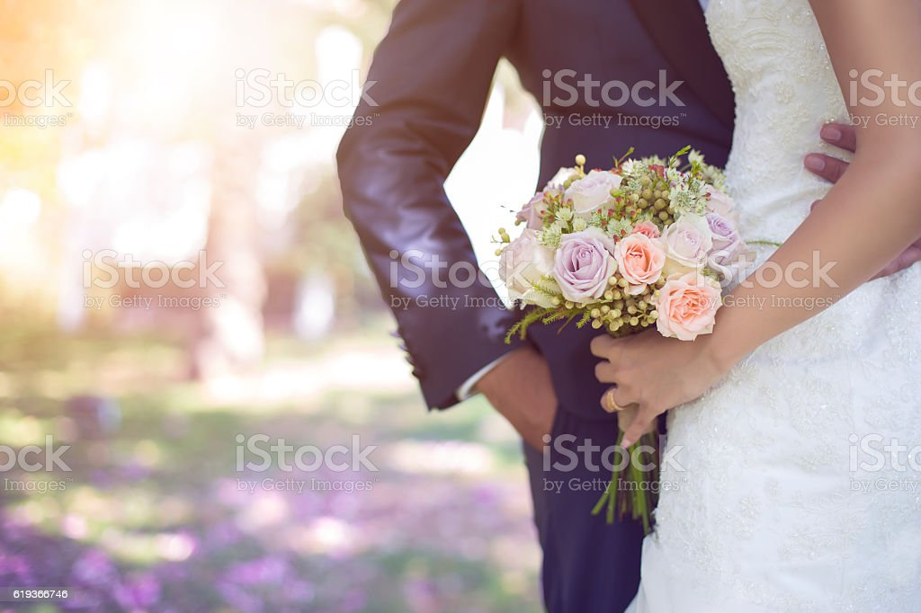 bride and bouquet Stock İmage